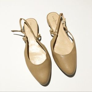 Cole Haan Tan Nude Flats With Strap